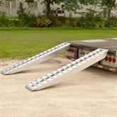 20-16-096-02-02-LL 8 L x 16 W Aluminum Ramps with Double Pin-On Ends - 20000 lb Weight Capacity