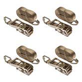 27RATG-J-4 4-Pack of 2 x 27 Ratchet Straps with J-Hooks