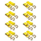 4in-Rat-Chain-40-8 8-Pack of 4 x 40 Heavy-Duty Ratchet Strap with Chain Extensions
