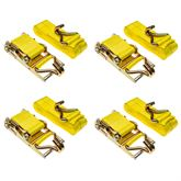 4in-Rat-J-40-4 4-Pack of 4 x 40 Heavy-Duty Ratchet Strap with J-Hooks