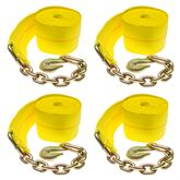 4in-Truck-Winch-Chain-4 4-Pack of 4 x 30 Heavy-Duty Winch Strap with Chain Anchor