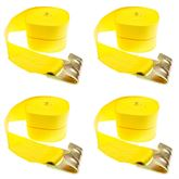 4in-Truck-Winch-Flat-WLL-4 4-Pack of 4 x 30 Heavy-Duty Ratchet Strap with Flat Hook