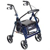 795 Drive Medical Duet Dual Function Transport Wheelchair Rollator