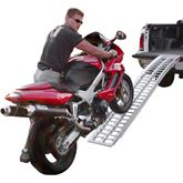 A-7214-1000-1 6 x 14 Black Widow Aluminum Non-Folding Arched Single Runner Motorcycle Ramp