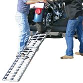 AF-9012-HD Black Widow Aluminum Deluxe Folding Arched Single Runner Motorcycle Ramp