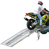 AF-9034-HD 75 L Aluminum Folding Arched Motorcycle Ramp - 1500 lb Capacity