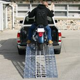 AF-9034-HD 75 L Aluminum Folding Arched Motorcycle Ramp - 1500 lb Capacity 2