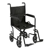 ATC19 Drive Medical Black Lightweight Transport Wheelchair - 19