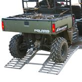 ATF-6264 Black Widow Aluminum Arched Tri-Fold UTV Trailer Ramp - 3000 lb Capacity