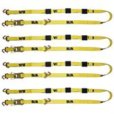BA-SJL120-4 4-Pack of BA Products 2 x 10 Ratchet Tie-Down Assembly with Long Swivel J Hooks