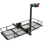 BCCB-BD2 2 Bicycle Apex Steel Basket Cargo Carrier with Bike Rack