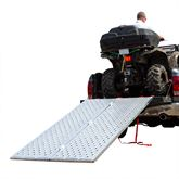 BFP-9450 7 10 L x 50 W Black Widow Aluminum Punch Plate Bi-Fold ATV Ramp