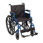 BLS20FBD-SF Standard Legrests - Blue Streak Wheelchair with Flip Back Desk Arms - 20 Seat