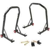BW-06-12-V2 Black Widow Front Pin  Rear Swingarm Motorcycle Stand Kit
