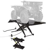 BW-1000A-XW-ATV Black Widow Extra Wide Pneumatic ATV Lift Table - 1000 lbs Capacity