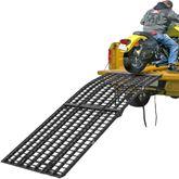 BW-10840-HD 9 Long Black Widow Aluminum 4-Beam Folding Arched 3-Piece Motorcycle Ramp