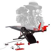 BW-PROLIFT-HDXW Black Widow ProLift Extra-Wide AirHydraulic Motorcycle Lift Table - 1500 lb Capacity