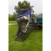 BW-SNGL-MC-HD Black Widow Aluminum 4-Beam Folding Arched Single Runner Motorcycle Ramp 3