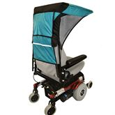 C123-DOUBLE-WIDE Double Wide Power Wheelchair Canopy