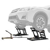 CARLIFT-3000 Black Widow Hydraulic Underbody Access Car Lift with Ramp - 3000 lb per pair Capacity
