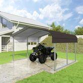CCP12106-B 12W x 10L x 6H Brown ATV and Lawn Equipment Carport by Versatube
