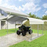 CCP12106-W 12W x 10L x 6H White ATV and Lawn Equipment Carport by Versatube