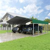 CCP20207-FG 20W x 20L x 7H Forest Green 2-Car Carport by Versatube