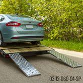 CTR-PP EZ Traction Hybrid Hook  Plate End Aluminum Car Trailer Ramps - 2500 3000  4000 lb per axle Capacity 1