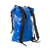 Right angle rear view of the dry bag backpack