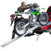 DBF-8206 Black Widow Aluminum Folding Straight Single Runner Motocross Dirt Bike Ramp