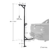 DEER-HOIST-SWIVEL Kill Shot 500 lb Capacity Deluxe Hitch-Mounted Deer Hoist with Swivel  Gambrel 2