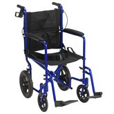 EXP19LT Drive Medical Lightweight Expedition Transport Wheelchair with Hand Brakes