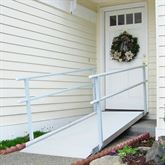 GATEWAY-Handrail-Ramp EZ-Access Gateway Aluminum Wheelchair Access Ramp with Handrails