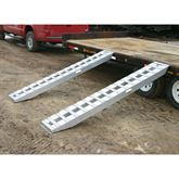 HDTR-H Heavy Duty Aluminum Hook End Car Trailer Ramps - 8000 - 12000 lb per axle Capacities 2