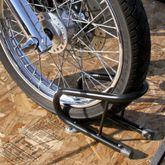 MC-CH-CHOCKS Black Widow Removable Motorcycle Wheel Chock 1