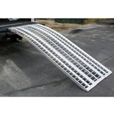 MC-RMP-NF Black Widow Aluminum Non-Folding Arched 3-Piece Motorcycle Ramp 1