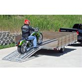 MC-RMP-NF Black Widow Aluminum Non-Folding Arched 3-Piece Motorcycle Ramp 5