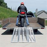 MC-RMP-NF Black Widow Aluminum Non-Folding Arched 3-Piece Motorcycle Ramp 6
