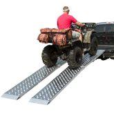 MF2-10819-EZ-ATV 9 L x 19 W Big Boy EZ Rizer Aluminum Extra-Wide Arched Dual Runner Folding ATV Ramps