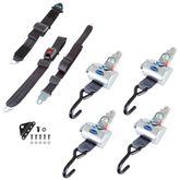 Q-8200-A-L 4 QRT Standard Retractors with ShoulderLap Belt L-Track  Belt Hardware