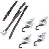 Q-8300-A1-L QRT MAX L-Track Retractor Kit with Retractable Belts