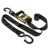 R7-STRAP-KITS 1 x 7 Ratchet Strap with S-Hooks - 2-pk 4-pk or 8-pk