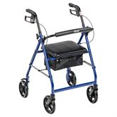R728 Drive Medical Rollator with 8 Wheels and Fold-Up Back