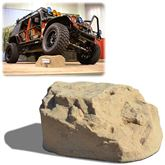 RR-ROCK-14 Race Ramps Solid Sandstone Off-Road Vehicle Display Rock - 2500 lbs Capacity