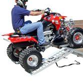 S-4816-2000-2 Black Widow Aluminum Straight Dual Runner ATV Trailer Ramps - 4 Long