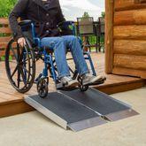 SFPAS Silver Spring Single-Fold Grit Coated Wheelchair Ramp - 700 lb Capacity 2
