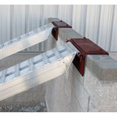SKID-SEAT-WALL-1 Masonry Wall Brackets for Pin-On End Loading Ramps
