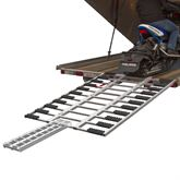 SNO-TF Black Ice Aluminum ATV and Snowmobile Tri-Fold Trailer Ramp
