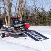 SNO-TRI-FOLD-T Black Ice Tri-Fold Snowmobile Trailer Ramps - 1500 lb Capacity 60 Long 1