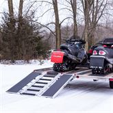 SNO-TRI-FOLD-T Black Ice Tri-Fold Snowmobile Trailer Ramps - 1500 lb Capacity 60 Long 2